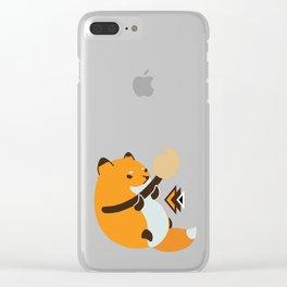 Smol Bean Fox Clear iPhone Case