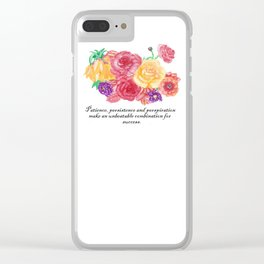 Lifetchen Inspirational Phonecase- Flores Clear iPhone Case