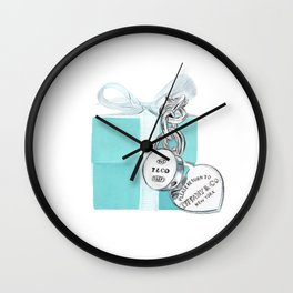 Blue Jewelry Box Wall Clock
