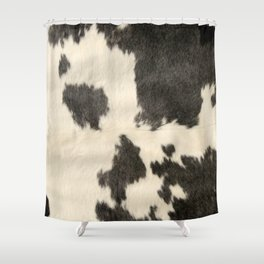 Black White Cow Hide Shower Curtain