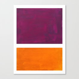 Purple Wine Yellow OchreMid Century Modern Abstract Minimalist Rothko Color Field Squares Canvas Print