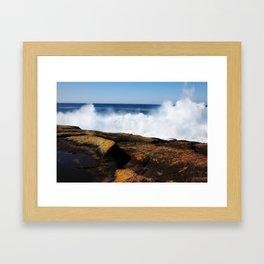 Let the sea set you free Framed Art Print