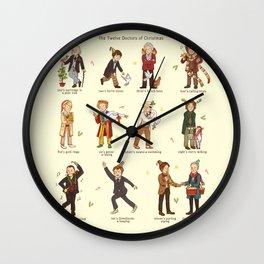 The Twelve Doctors of Christmas Wall Clock