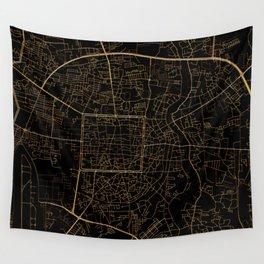 Chiang Mai map, Thailand Wall Tapestry