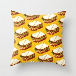 Ham Sandwich Pattern Throw Pillow