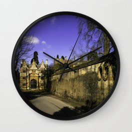 Manor Gatehouse  Wall Clock