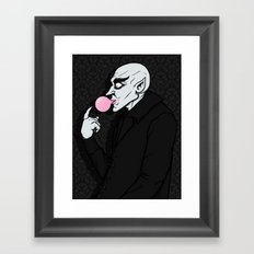 Popping Bubblegum Bubble  Framed Art Print