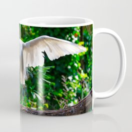 Streching Egret Coffee Mug