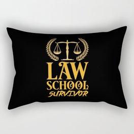 Lawyer - Law School Survivor Rectangular Pillow