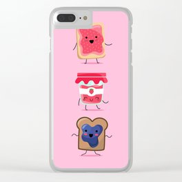 Breakfast Is Jammin' Clear iPhone Case