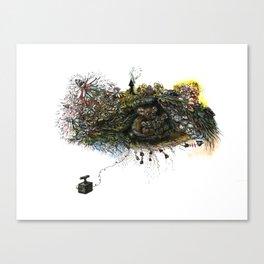 Black Bear Lair Canvas Print