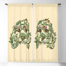Botanical Beagle Blackout Curtain
