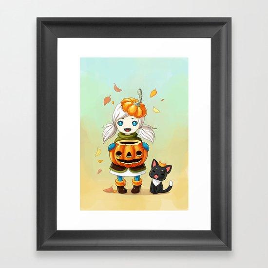 Pumpkin 2 Framed Art Print