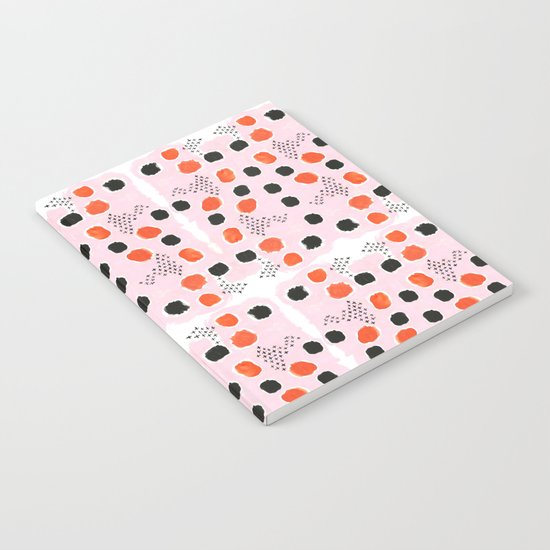 Uma - abstract minimal modern painting dorm college hipster trendy pastel painterly brushstrokes art Notebook