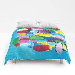 Colorful Day Abstract Comforters