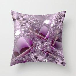 Bouquet of fractal flowers Throw Pillow