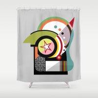 bauhaus Shower Curtains featuring Bauhaus II by Lanre Studio