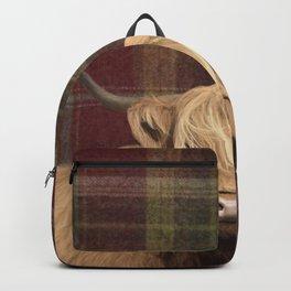 Highland cow print Backpack