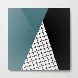 Checkered triangle Metal Print