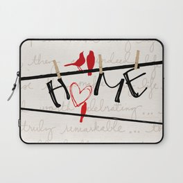 Home Letters Red Bird Clothesline A712 Laptop Sleeve
