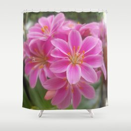 Tina's Garden: Pink Flower Shower Curtain