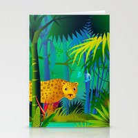 panther Stationery Cards featuring Panther by Nato Gomes