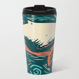 Blue whale Metal Travel Mug