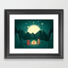 Camp Fires Framed Art Print