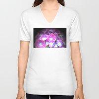 hydrangea V-neck T-shirts featuring Hydrangea by Trevor Jolley