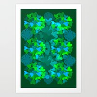 emerald Art Prints featuring Emerald by Ingrid Castile