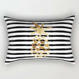 Pineapple & Stripes Rectangular Pillow
