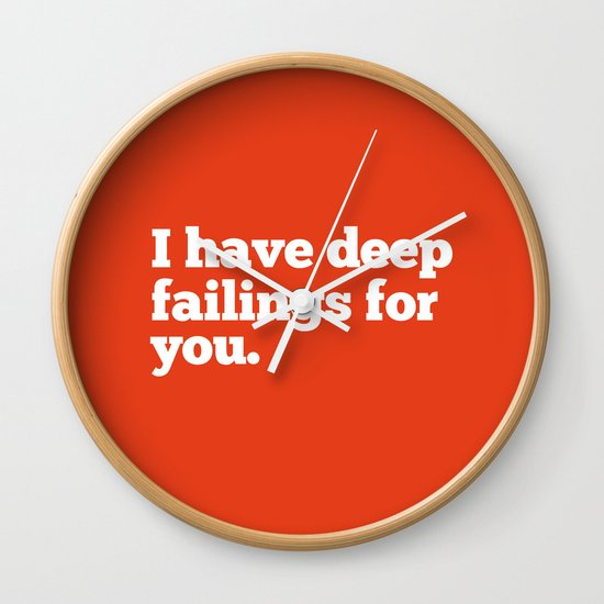 Deep Failings For You Wall Clock