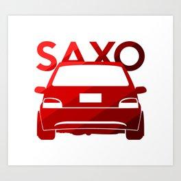 Citroen Saxo - classic red - Art Print
