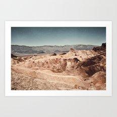 Desert Cliffs Art Print