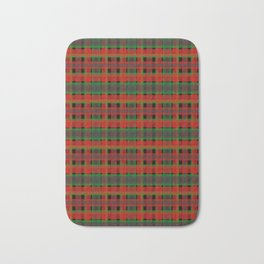 Red, green tartan plaid. Bath Mat