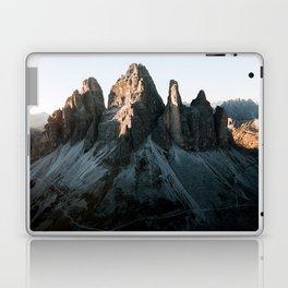 Tre Cime in the Dolomites Mountains at dusk - Landscape Photography Laptop & iPad Skin