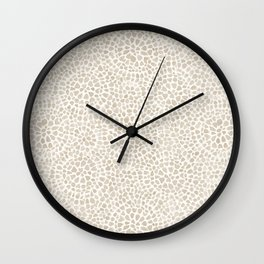 Watercolor abstract dotted circles neutral beige Wall Clock