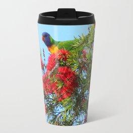 Lorikeet Rainbows and Brushes Travel Mug
