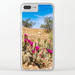 Desert Cacti in Bloom - 3 Clear iPhone Case
