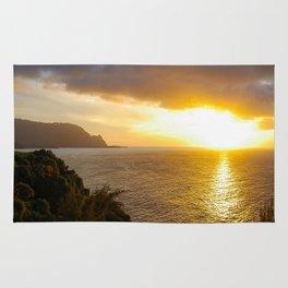 Sunset in Princeville, Kauai, Hawaii Rug