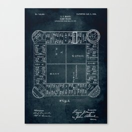 1903 - Game board (first Monopoly) Canvas Print