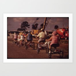 Tricycle Club Art Print