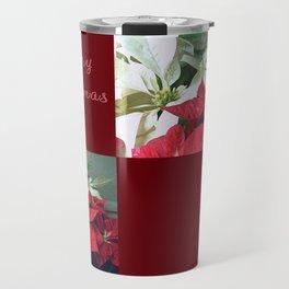 Mixed color Poinsettias 3 Merry Christmas Q10F1 Travel Mug