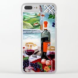 The Wine Painting Clear iPhone Case