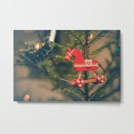 decor hanged on christmas tree Metal Print