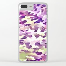 Foliage Abstract Pop Art In UltraViolet Purple and Lilac Clear iPhone Case