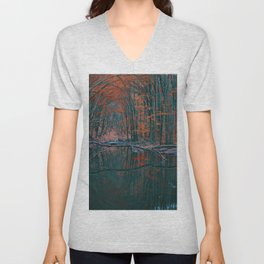 Romanian forest in autumn Unisex V-Neck