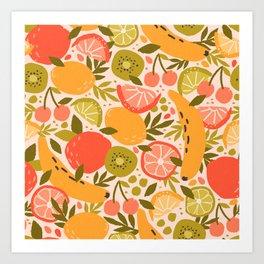 Summer Fruit Lemon Lime Art Print