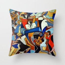 Salsa Salvaje Throw Pillow