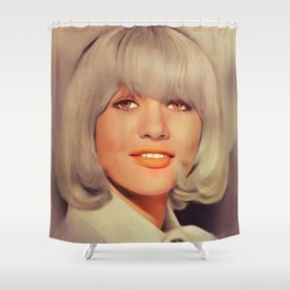 Judy Geeson, Vintage Actress Shower Curtain